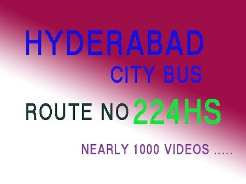 HYDERABAD CITY BUS FROM HMT COLONY TO SECUNDERABAD  ROUTE NO BUS NO 224HS