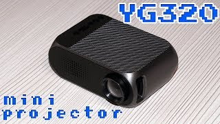 YG320 CHEAP MINI LED PROJECTOR 1080P - DETAILED REVIEW AND TESTS