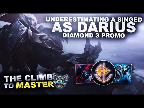 UNDERESTIMATING A SINGED AS DARIUS! - Climb to Master | League of Legends thumbnail