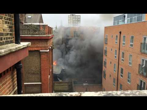Fire at Shadwell Wapping, east London