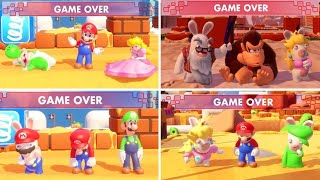 Mario + Rabbids Kingdom Battle - All Character Game Over Animations