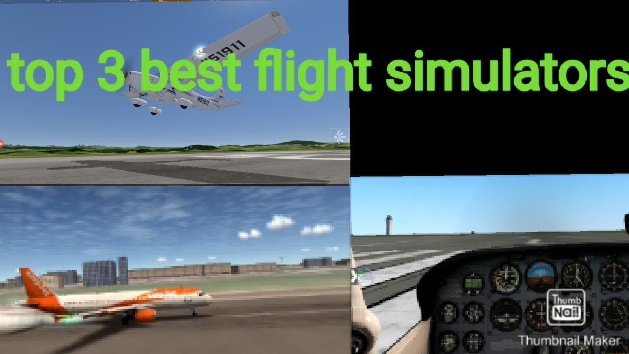 Top 3 best free flight simulator iOS and Android - YouTube