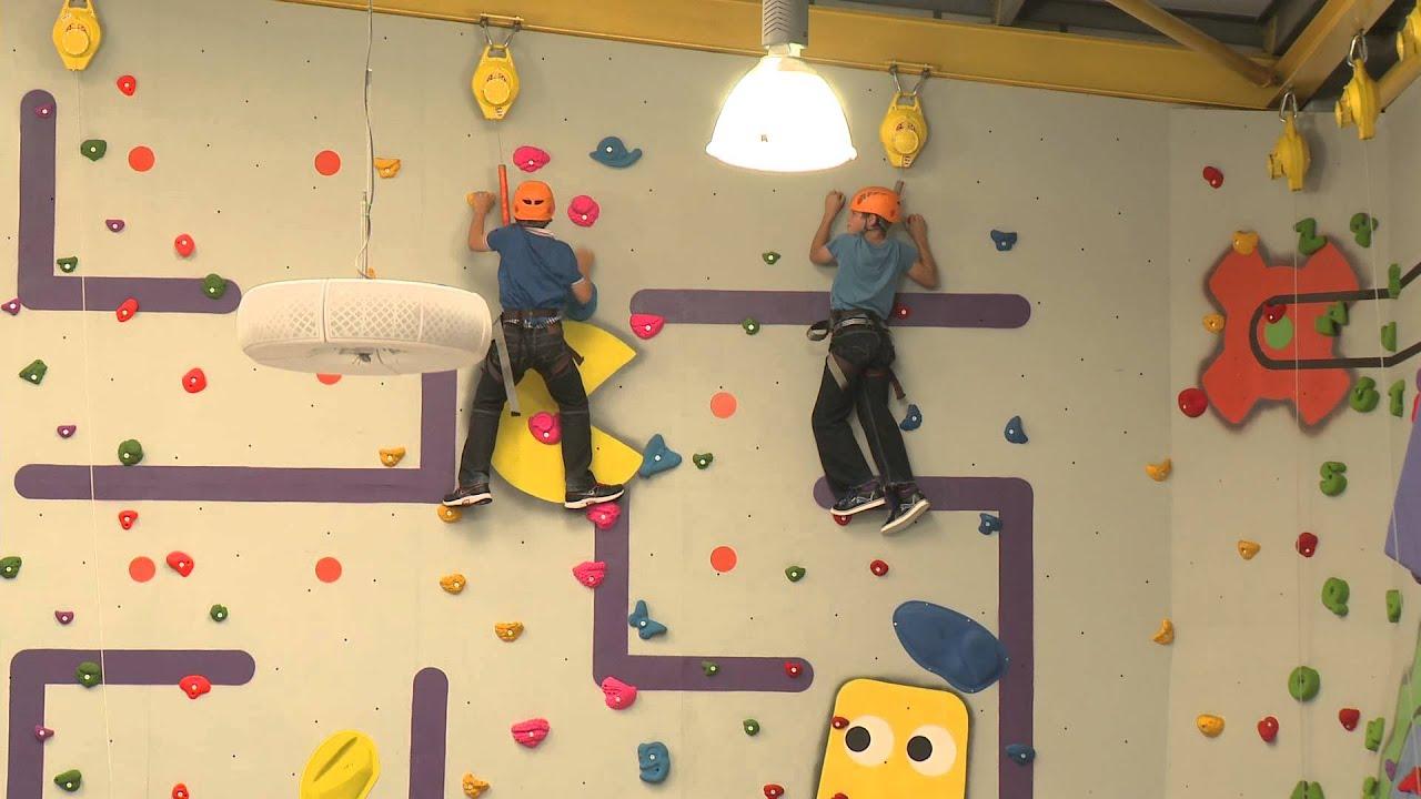 The Fun Factory Rochford - Climbing Wall - YouTube