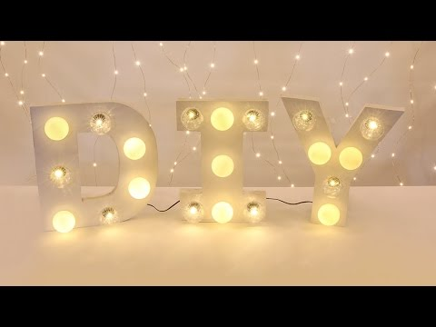 Make Your Own Light Up Letters