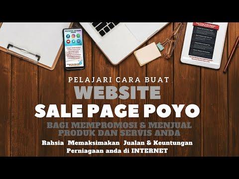 Poyokan Jenama Anda dengan Website Sale Page Poyo bersama Sifu Branding