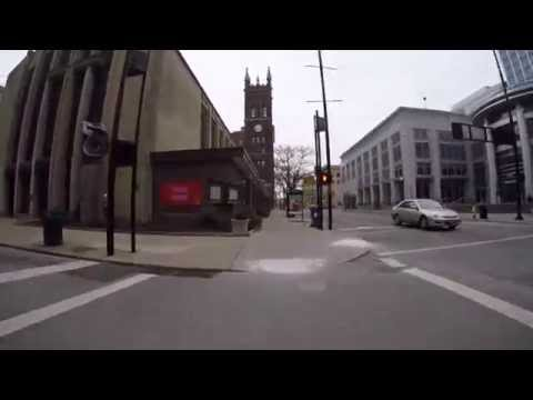 GoPro bike ride downtown Cincinnati Ohio to Newport Kentucky and back