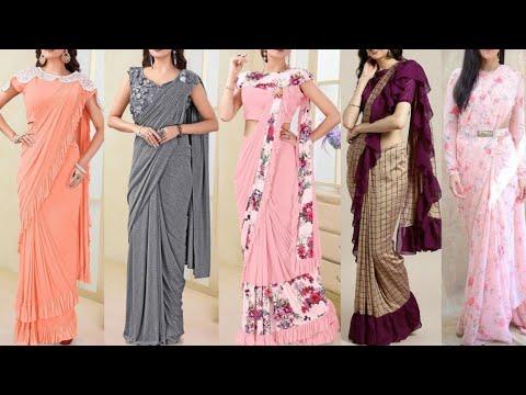 💚🧡Buy Designer Party Wear Saree 💚🧡 Georgette Saree 💚🧡Chiffon Saree💚🧡Silk Saree- Cheapest rates💚🧡