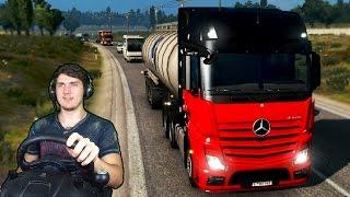 РАЗБИЛ ФУРУ в Euro Truck Simulator 2 + РУЛЬ (Logitech Driving Force GT)