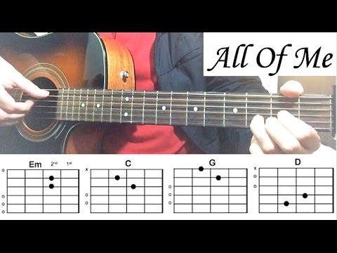 All Of Me John Legend  Guitar Tutorial Lesson
