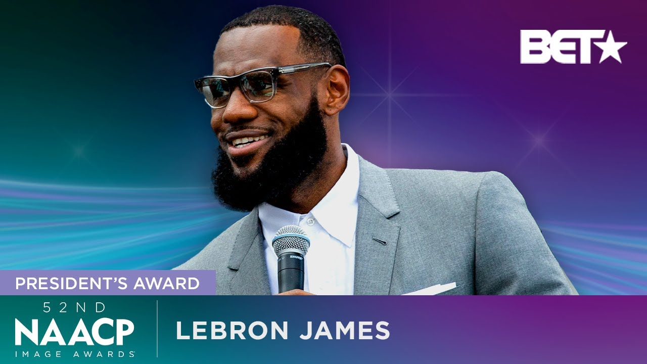 King LeBron James Honored With A Presidents Award at The 2021 NAACP Image Awards