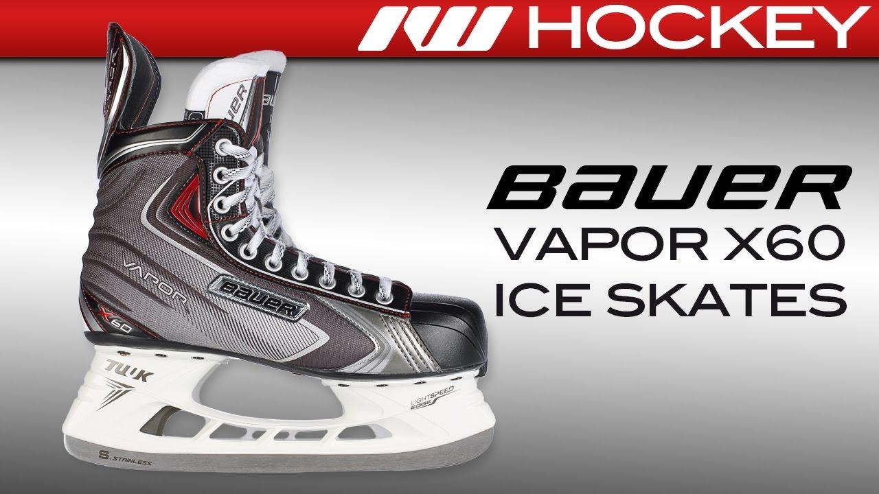 a8961fc3132 Bauer Vapor X60 Ice Hockey Skate Review - YouTube