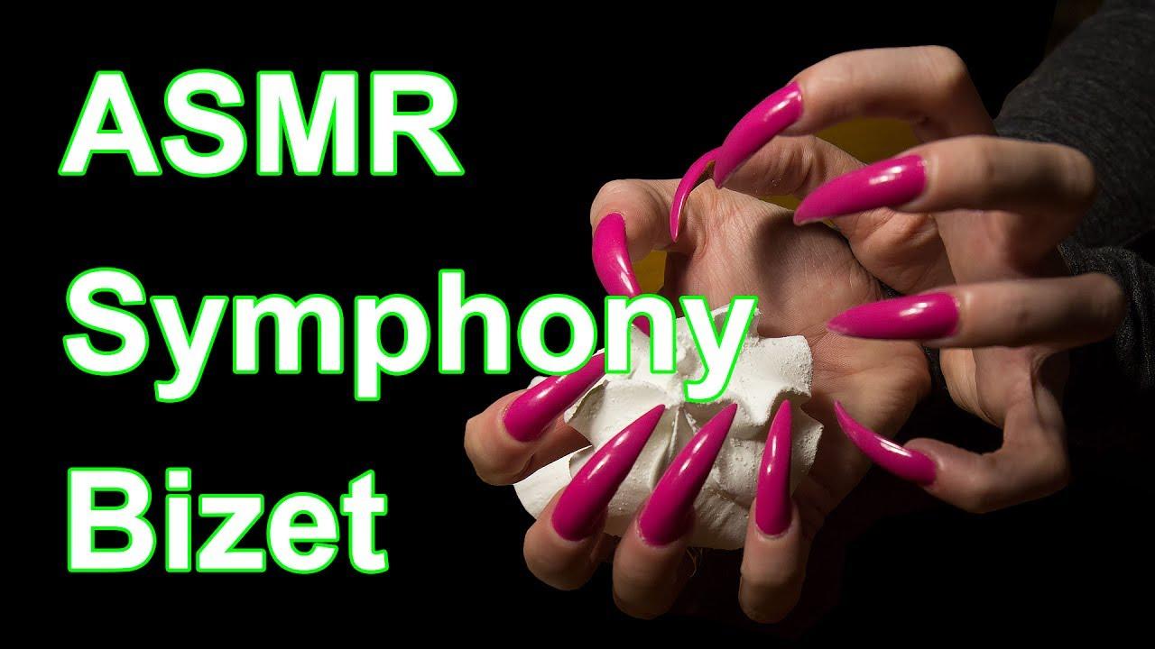 ASMR meringue cookies sharp long nails - YouTube