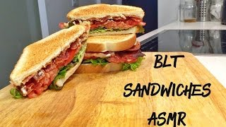 ASMR BLT SANDWICHES (MAKING AND EATING)