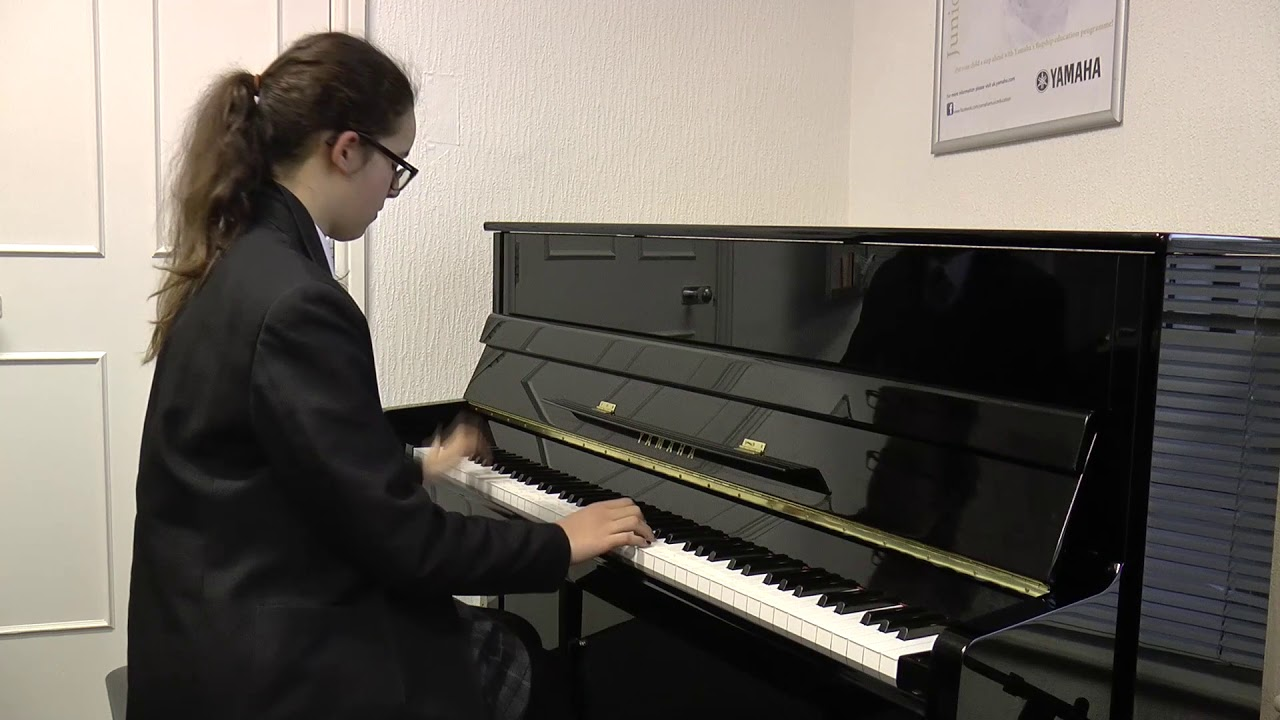 Sophia, age 11, performs End of Summer, her original piano composition