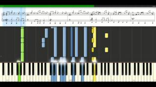 Gorillaz - On melancholy hill [Piano Tutorial] Synthesia