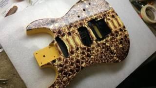 BC Rich Gunslinger Snake Skin Custom Shop at Pace Guitar Repair