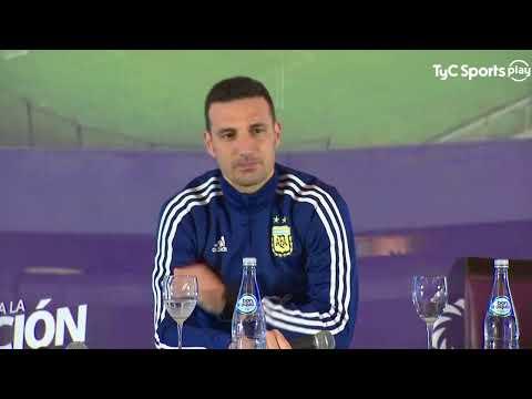 Lionel Scaloni en conferencia de prensa