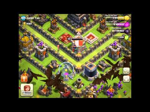 Clash Of Clans: Jorge Gem Yao/ Defense Vs 7 Pekkas...