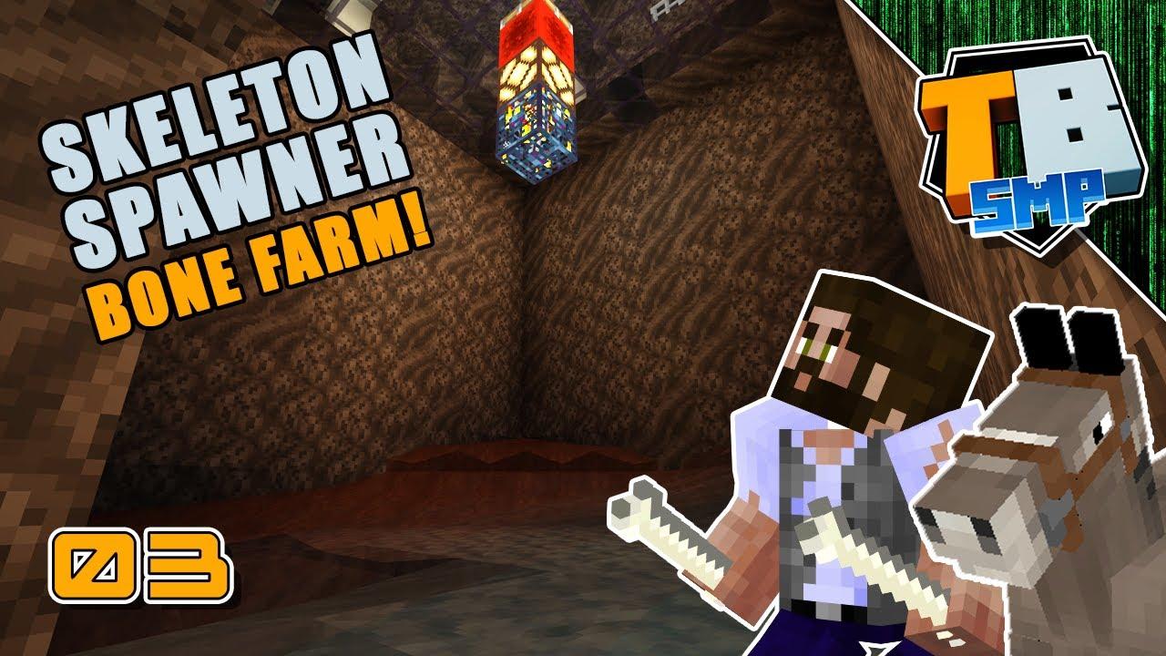 SKELETON SPAWNER FARM - we need bones! | Truly Bedrock Season 3 [03] Minecraft Bedrock SMP