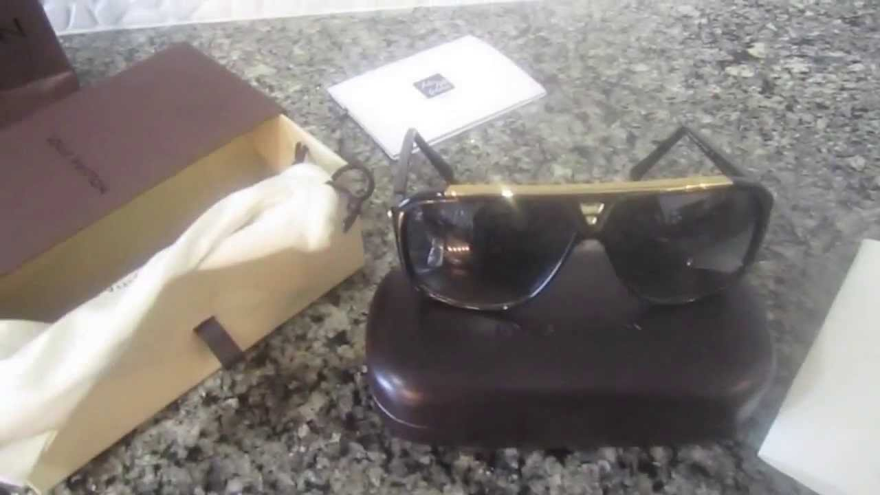 aae1daef32 Louis Vuitton Unboxing EVIDENCE sunglasses - YouTube