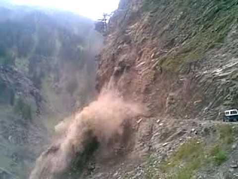 Landslide in Pangi Valley of Himachal ( INDIA)