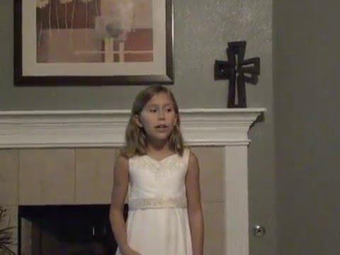 Kaylee Turner age 9 singing Taylor Swift - Love Story