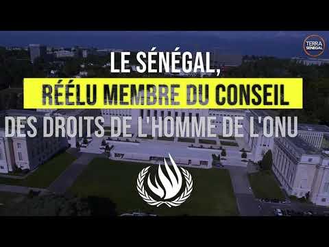 Le Sénégal, réélu membre du conseil des droits de L'homme de L'ONU