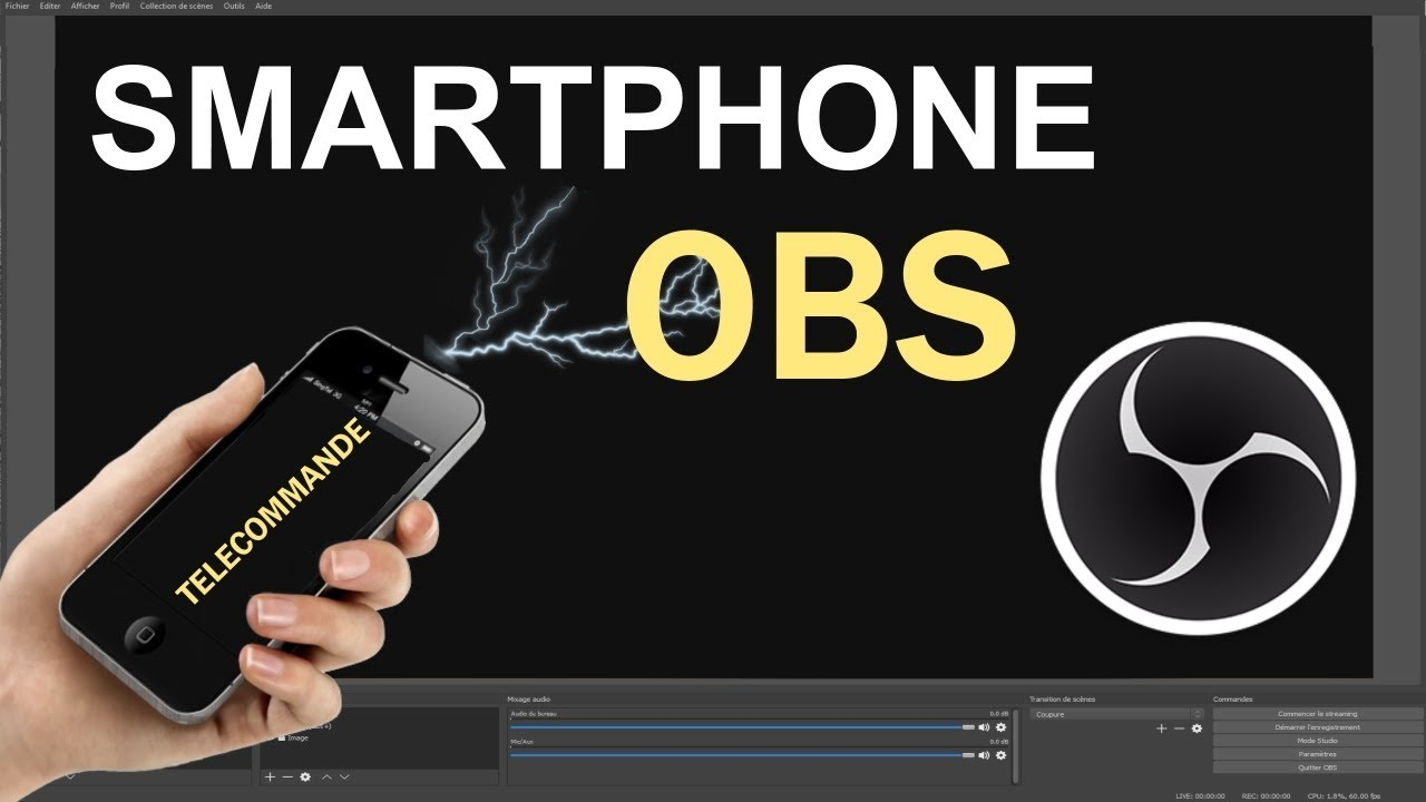 TUTO - Comment contrôler OBS avec son smartphone Android - youtube