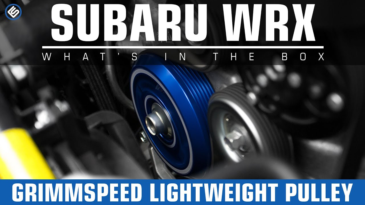 Grimmspeed Lightweight Pulley 2015 Subaru Wrx Install Review Youtube Radio Wiring Harness For Premium