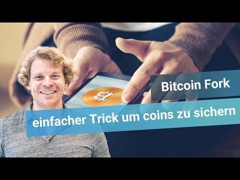 Bitcoin Fork: Einfacher Trick um deine coins OHNE replay protection zu sichern!