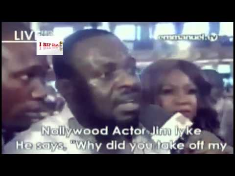 Jim Iyke's Deliverance From The Devil (Shocking Video!) @ TB Joshua's Synagougue Church