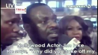 Jim Iyke39s Deliverance From The Devil Shocking Video  TB Joshua39s Synagougue Church