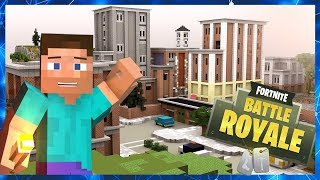 Fortnite Battle Royale Tilted Towers In Minecraft ( Download Map )