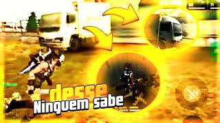FREE FIRE- ESCONDERIJO QUE PASSA DESPERCEBIDO!!