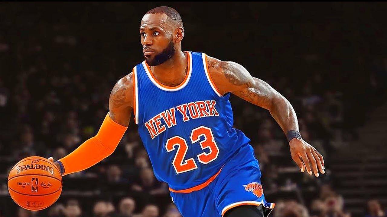 LeBron James Joining Knicks!? LeBron James responds to ...Lebron James Knicks Uniform