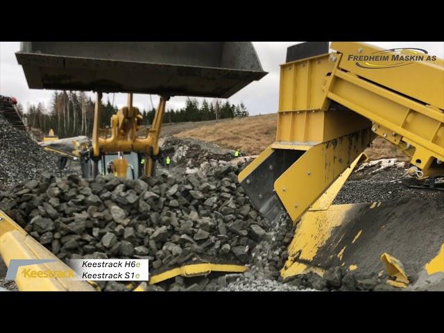 Fredheim Maskin, Keestrack H6e S1e i drift på Oktoberdagarna 2020