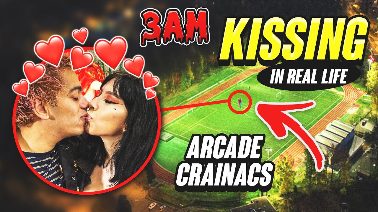 DRONE CATCHES ARCADE CRANIACS KISSING IN REAL LIFE!! (ON CAMERA)
