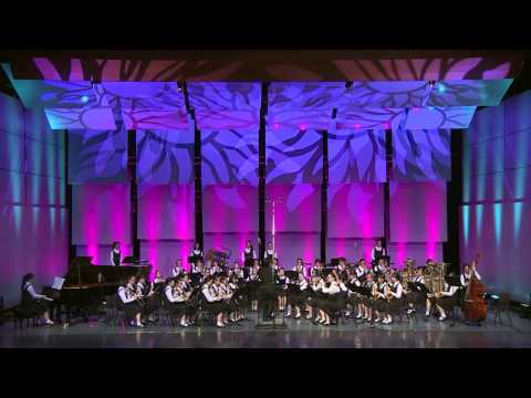 the wind band of shanghai no.3 girl's high school perform Jazz Suite No.2 by shostakovich