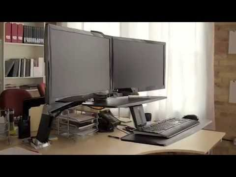 Ergotron Workfit A Dual Monitor Sit Stand Workstation