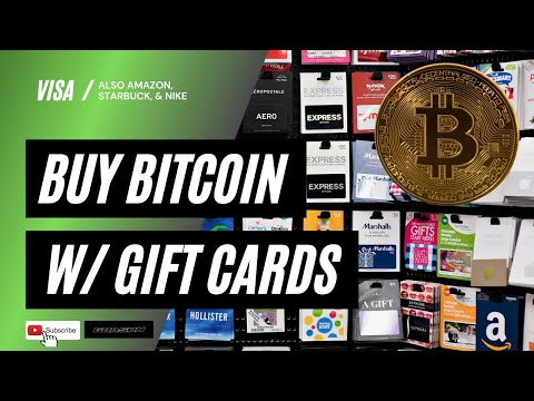 BUY BITCOIN WITH GIFT CARDS | AMAZON, STARBUCKS, NIKE, EBAY GIFT CARDS TO PURCHASE CRYPTO