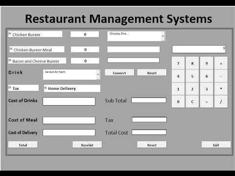 How To Create Restaurant Management Systems In Microsoft
