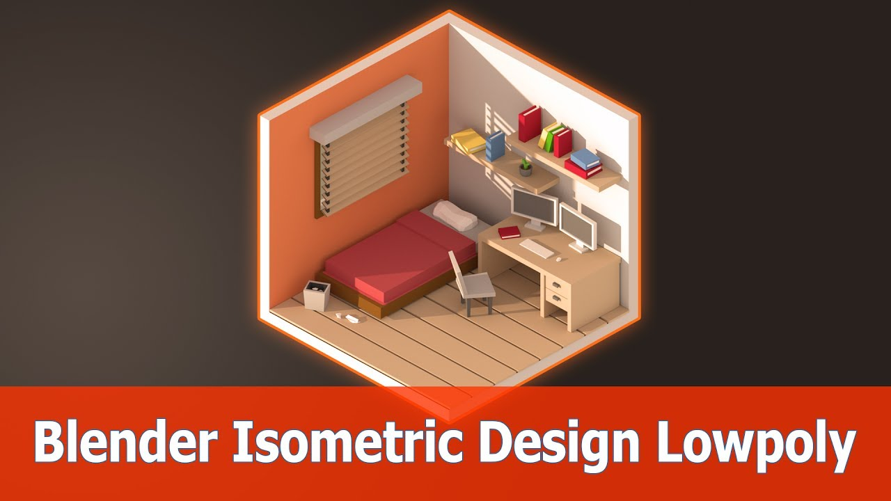 Blender Isometric Design Room Low Poly Youtube