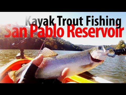 Kayak Trout Fishing At San Pablo Reservoir