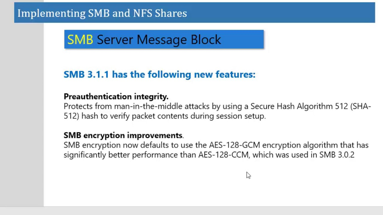 Implementing SMB and NFS Share - Windows Server 2016 - Part1