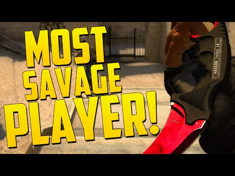 MOST SAVAGE PLAYER! - CS GO Funny Moments in Competitive