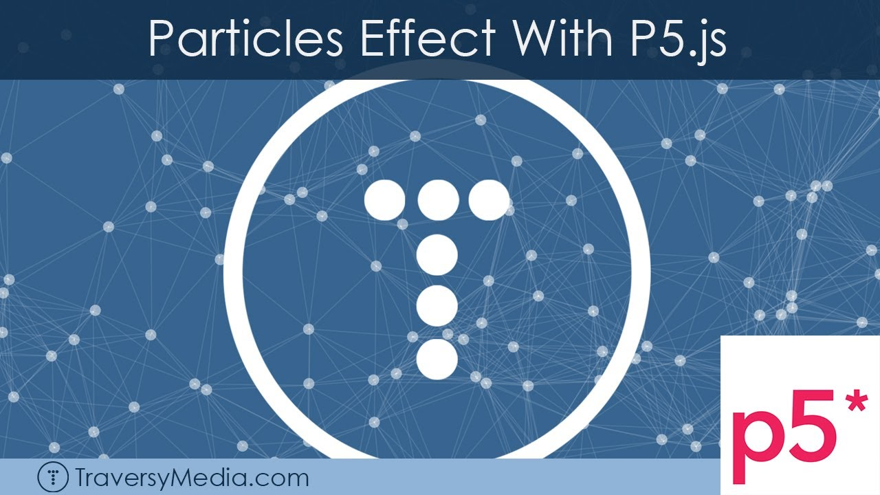 Particles Effect With P5.js