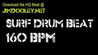 Surf Rock Beat 160 BPM Extended Drum Loop Mix