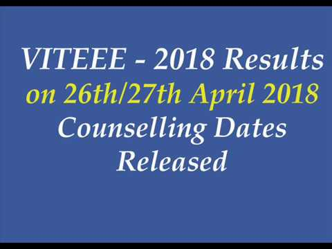 VITEEE Result 2018 on 26th or 27th April | VITEEE Results 2018