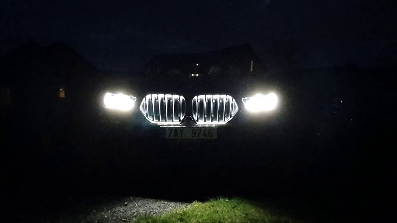 2020 Bmw X6 Welcome Lights W Illuminated Kidney Grille Youtube
