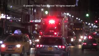 FDNY responding fire truck RESCUE OPERATIONS LOGISTIC 2015 HD ©
